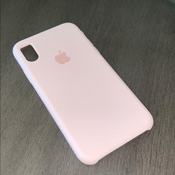 new concept cd642 0c5e4 Accessories   Iphone Silicone Case Xs Pink Sand Open Box   Poshmark